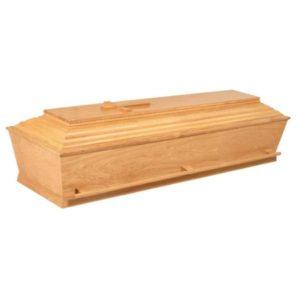 kiste i egetræ med og uden kors